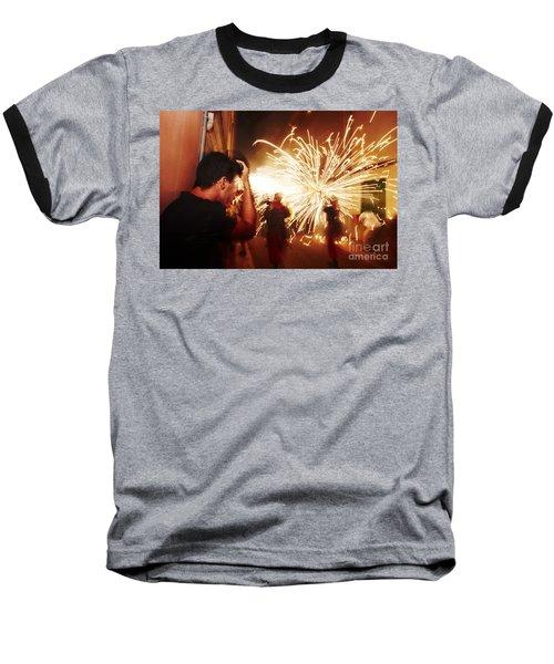 Demons Fire Baseball T-Shirt
