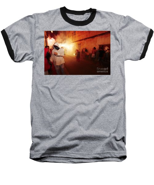 Demons In The Street Baseball T-Shirt