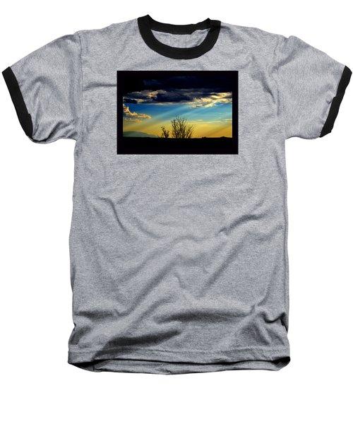 Baseball T-Shirt featuring the photograph Desert Dusk by Susanne Still