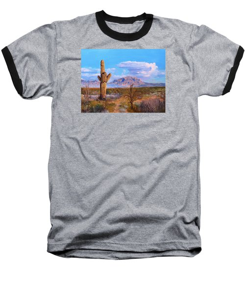 Baseball T-Shirt featuring the painting Desert Scene 4 by M Diane Bonaparte