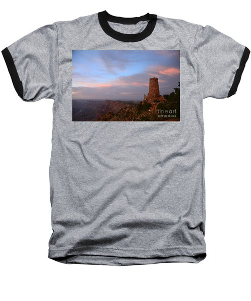 Desert View Watchtower Baseball T-Shirt