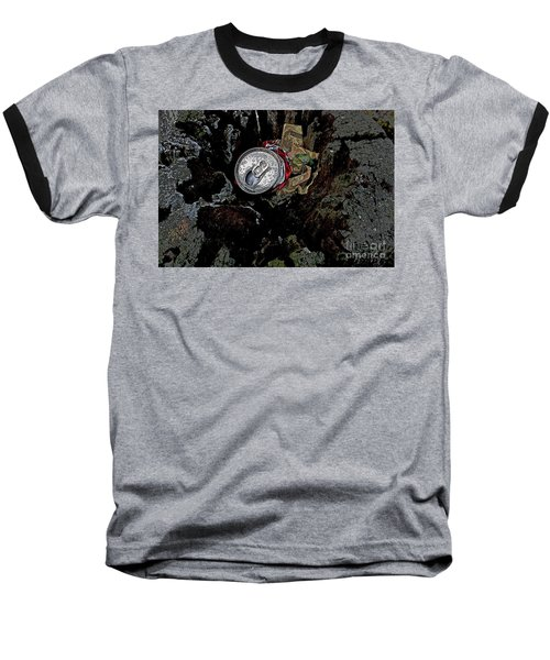 Baseball T-Shirt featuring the photograph Discarded by Nareeta Martin