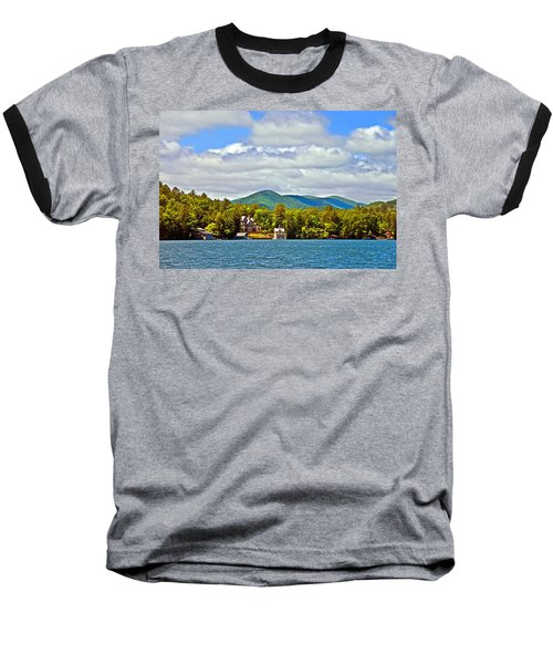 Distant Lake View In Spring Baseball T-Shirt