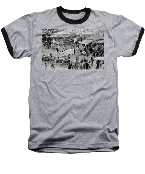 Baseball T-Shirt featuring the photograph Djemaa El Fna Marrakech Morocco by Tom Wurl
