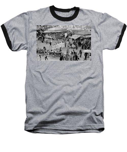 Djemaa El Fna Marrakech Morocco Baseball T-Shirt by Tom Wurl