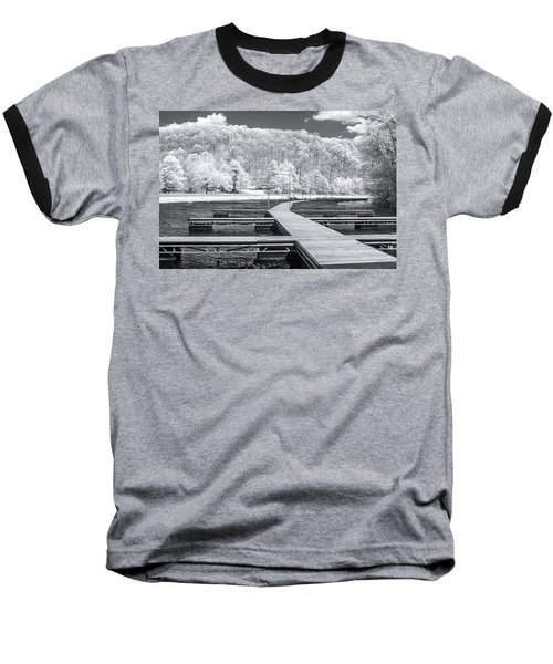 Baseball T-Shirt featuring the photograph Dock In Infrared by Mary Almond