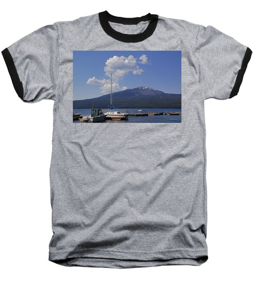 Docks At Diamond Lake Baseball T-Shirt by Mick Anderson