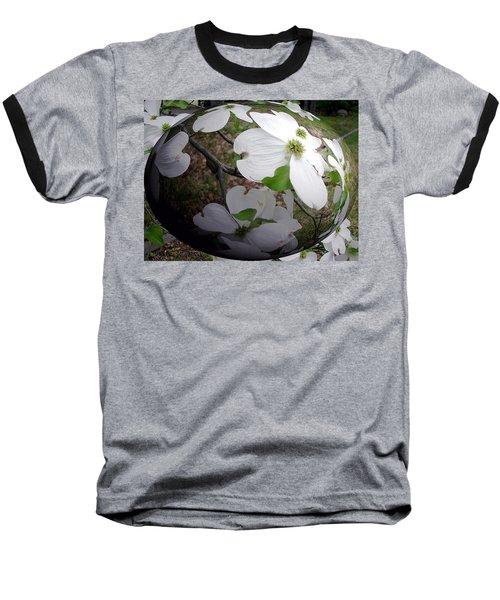 Dogwood Under Glass Baseball T-Shirt by Pamela Hyde Wilson