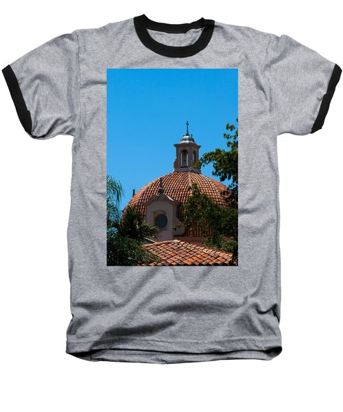 Baseball T-Shirt featuring the photograph Dome At Church Of The Little Flower by Ed Gleichman
