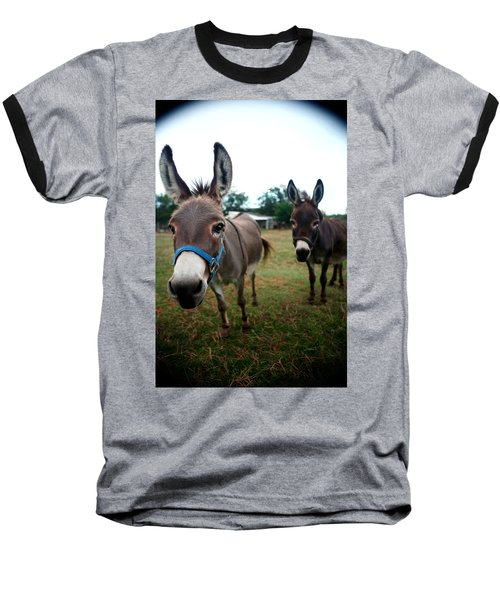 Baseball T-Shirt featuring the photograph Doting Donkeys by Lon Casler Bixby