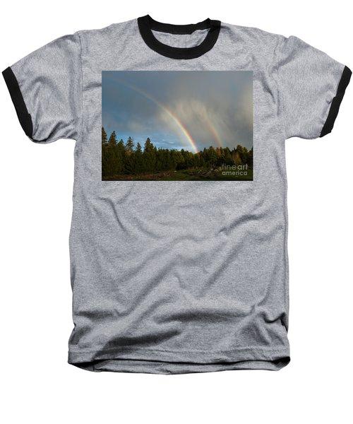 Double Blessing Baseball T-Shirt by Cheryl Baxter