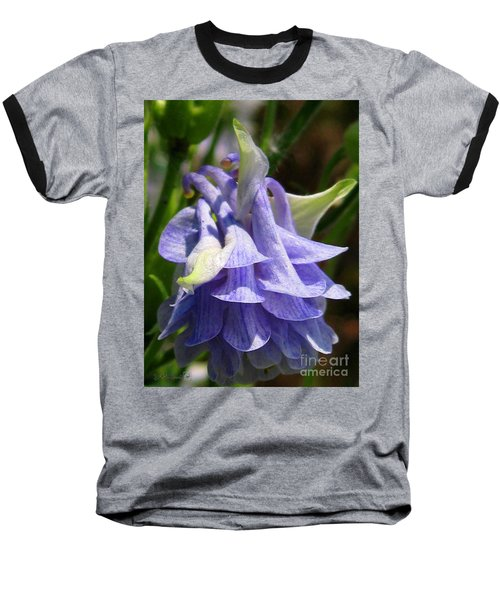 Baseball T-Shirt featuring the photograph Double Columbine Named Light Blue by J McCombie