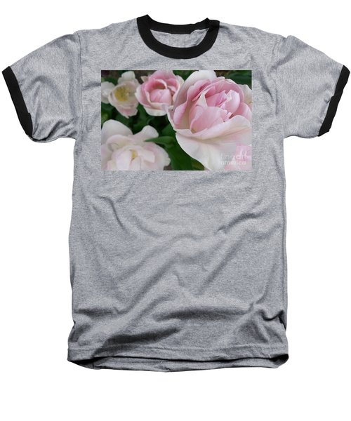 Baseball T-Shirt featuring the photograph Double Pink by Laurel Best