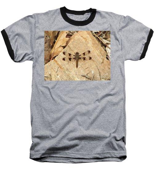 Baseball T-Shirt featuring the photograph Dragonfly At Rest by Deniece Platt