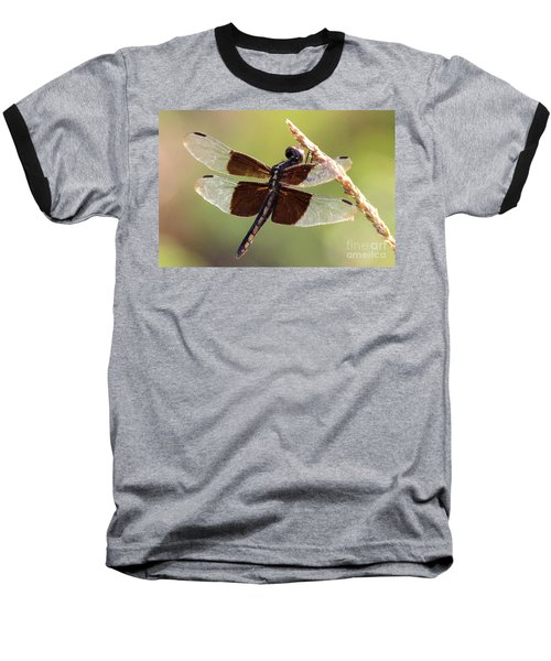 Baseball T-Shirt featuring the photograph Dragonfly Closeup by Kathy  White