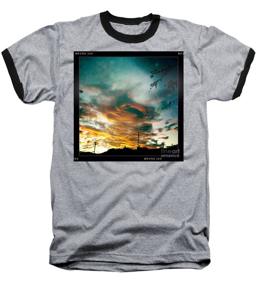 Baseball T-Shirt featuring the photograph Drama In The Sky by Nina Prommer