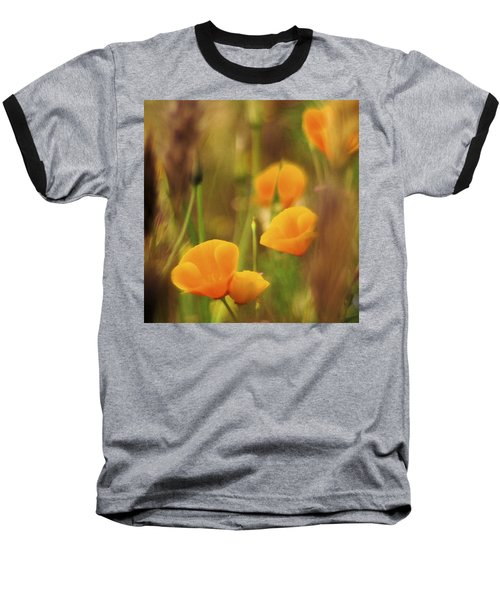 Dream Poppies Baseball T-Shirt by Ralph Vazquez