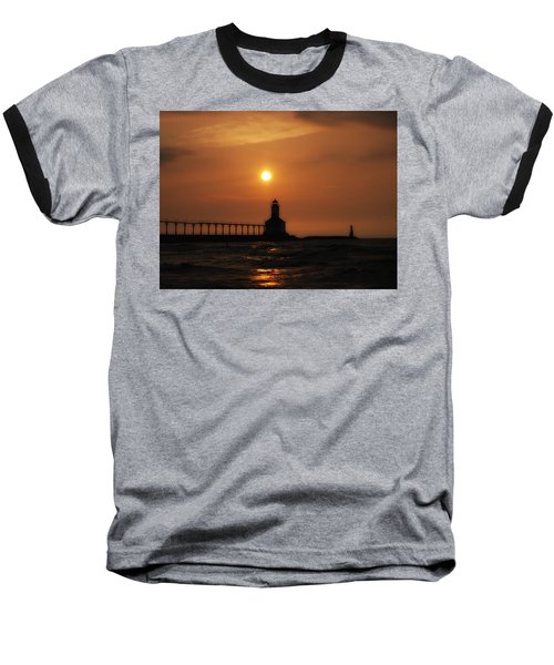 Dreamy Sunset At The Lighthouse Baseball T-Shirt
