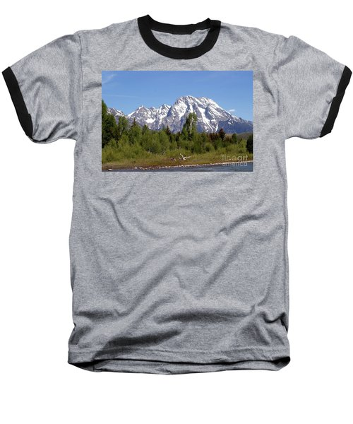 Driftwood And The Grand Tetons Baseball T-Shirt by Living Color Photography Lorraine Lynch