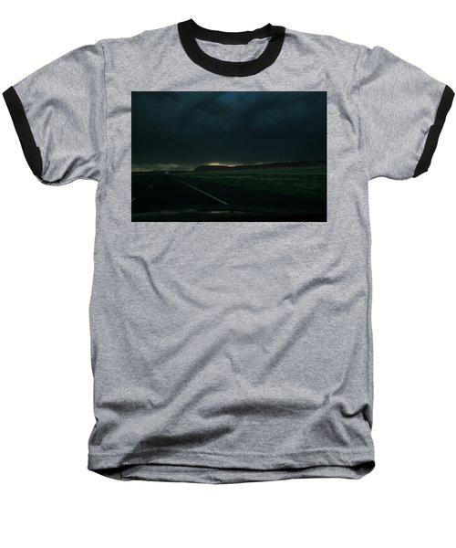 Baseball T-Shirt featuring the photograph Driving Rain Number One by Lon Casler Bixby