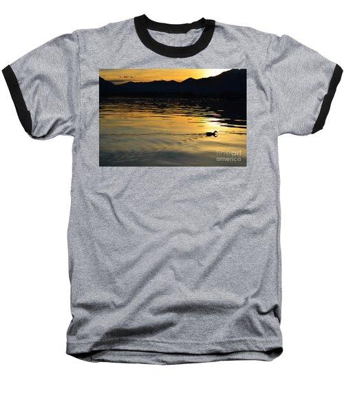 Duck Swimming Baseball T-Shirt