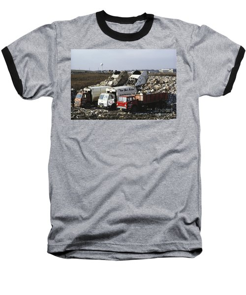 Dumping Garbage In Landfill Baseball T-Shirt