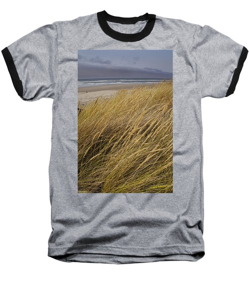 Dune Grass On The Oregon Coast Baseball T-Shirt by Mick Anderson