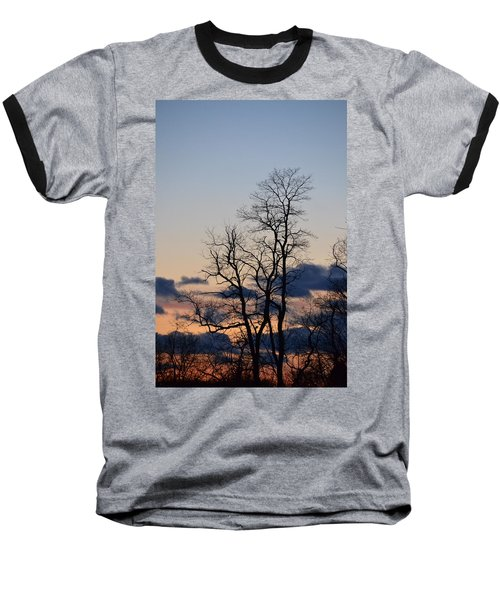 Dusk Baseball T-Shirt by Bonnie Myszka