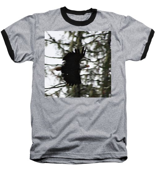 Baseball T-Shirt featuring the photograph Eagle Fly By by Cathie Douglas