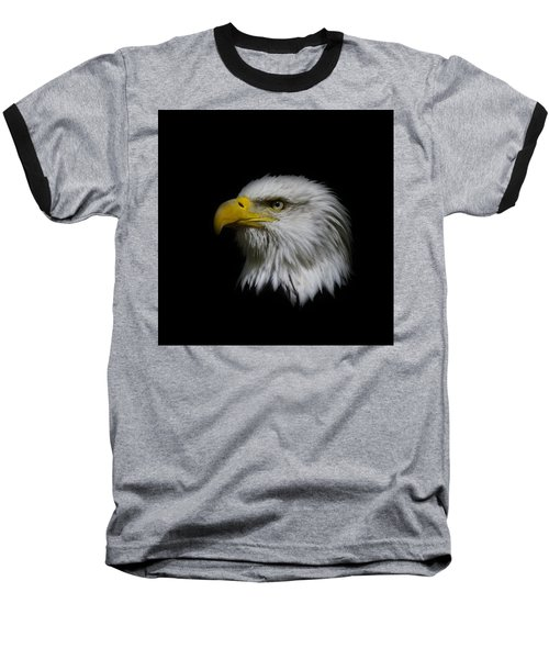 Baseball T-Shirt featuring the photograph Eagle Head by Steve McKinzie