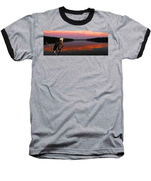 Baseball T-Shirt featuring the photograph Eagle Overlooking Domain by Randall Branham