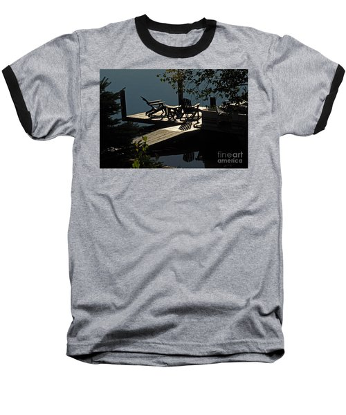 Baseball T-Shirt featuring the photograph Early Morning At The Lake by Cindy Manero