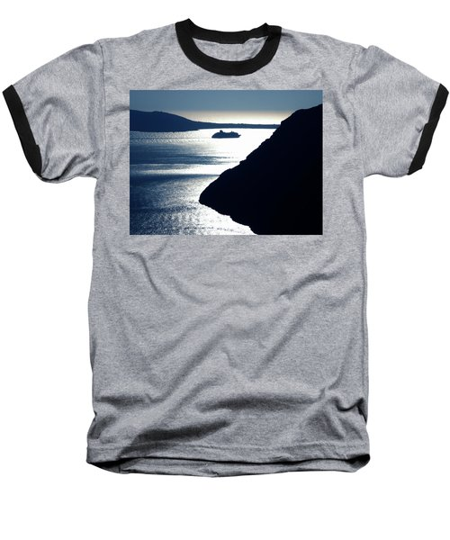 Baseball T-Shirt featuring the photograph Early Night Santorini Island Greece by Colette V Hera  Guggenheim