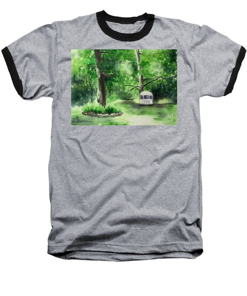 Baseball T-Shirt featuring the painting Early Summer At The Geddes Farm --ann Arbor Michigan by Yoshiko Mishina