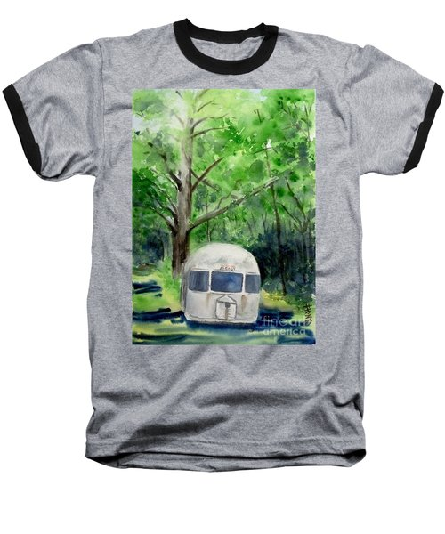 Baseball T-Shirt featuring the painting Early Summer At The Geddes Farm 1 --ann Arbor  Michigan by Yoshiko Mishina