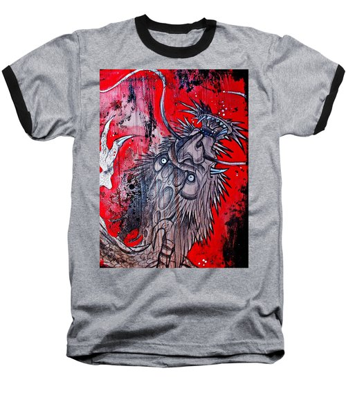 Baseball T-Shirt featuring the painting Earth Spirit by Sandro Ramani