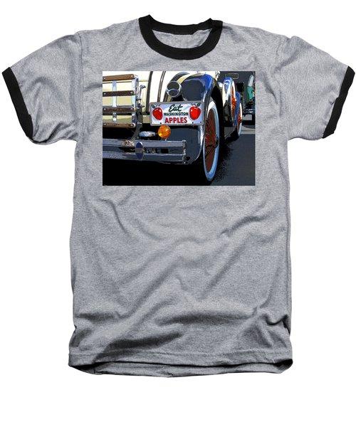 Baseball T-Shirt featuring the digital art Eat Washington Apples2 by Anne Mott