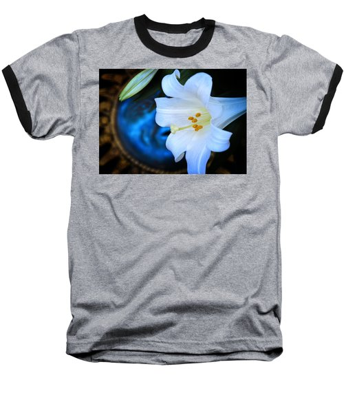 Baseball T-Shirt featuring the photograph Eclipse With A Lily by Steven Sparks