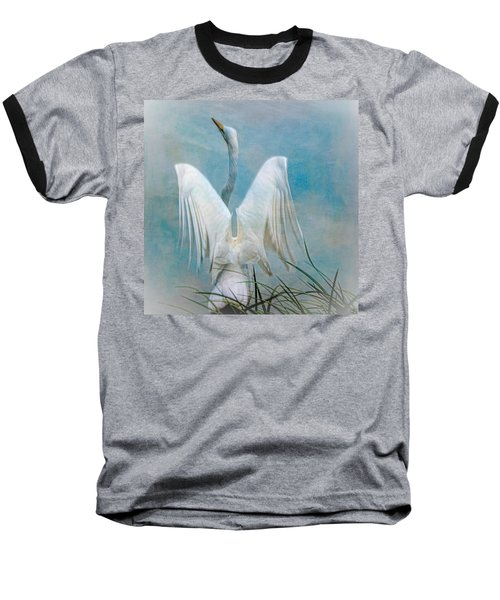 Egret Preparing To Launch Baseball T-Shirt