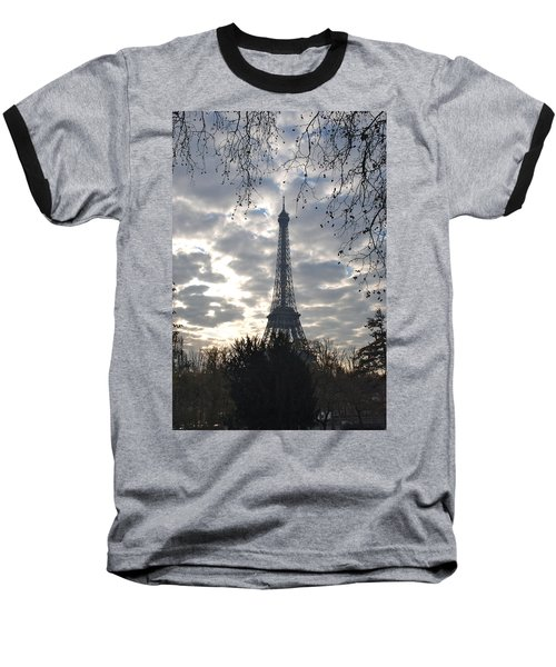 Baseball T-Shirt featuring the photograph Eiffel In The Morning by Eric Tressler