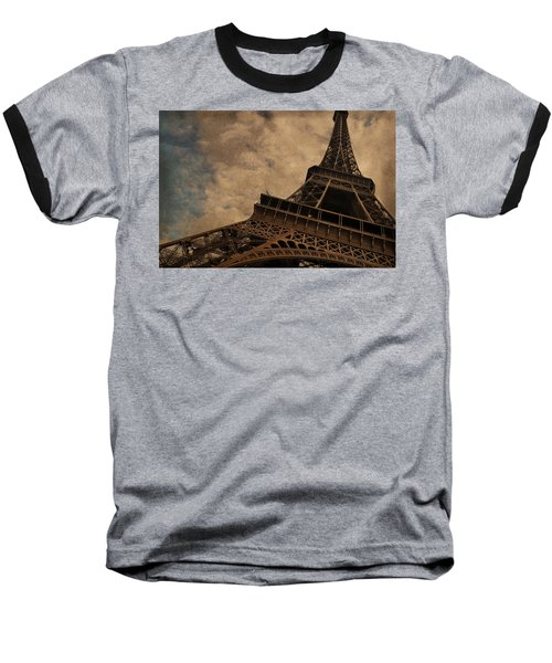 Eiffel Tower 2 Baseball T-Shirt by Mary Machare