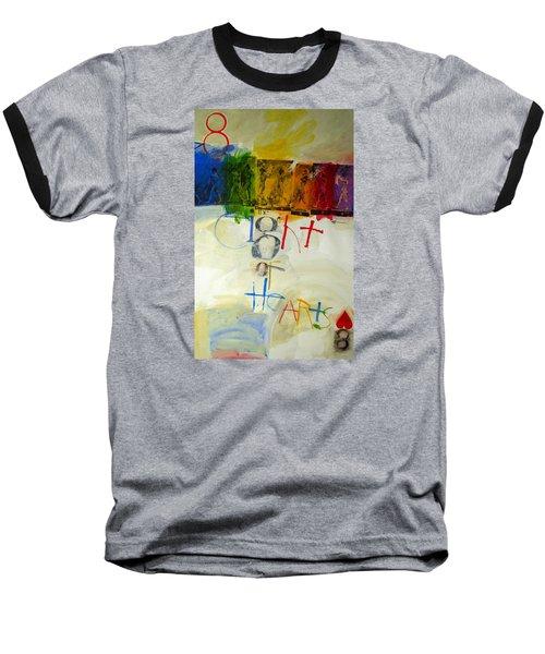 Eight Of Hearts 34-52 Baseball T-Shirt by Cliff Spohn
