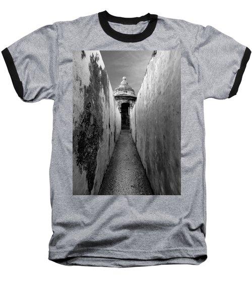 El Morro In Black And White Baseball T-Shirt