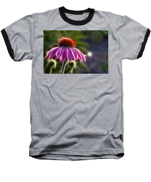 Baseball T-Shirt featuring the photograph Electrified Coneflower by Lynne Jenkins