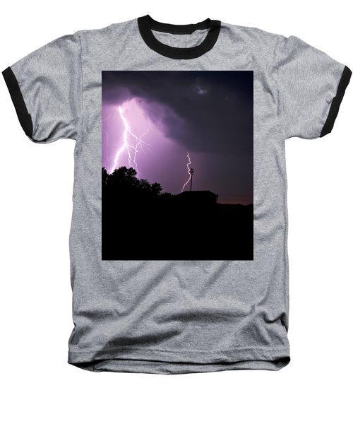 Electrifying Sky  Baseball T-Shirt