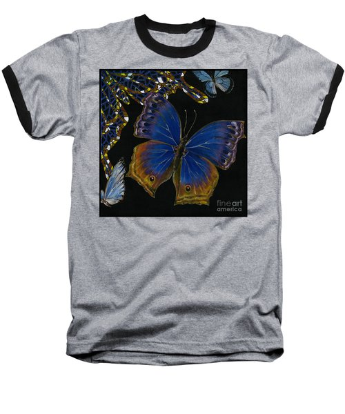 Elena Yakubovich - Butterfly 2x2 Lower Right Corner Baseball T-Shirt