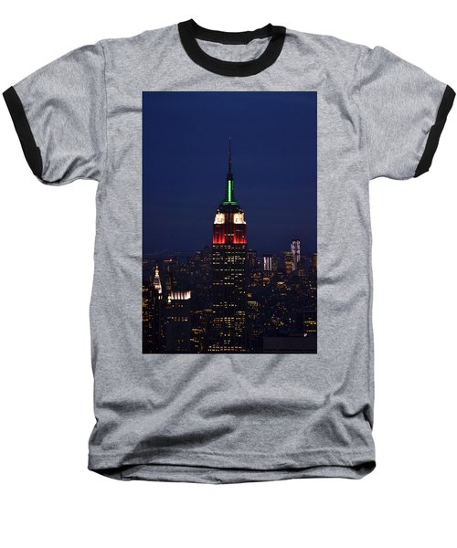 Empire State Building1 Baseball T-Shirt by Zawhaus Photography