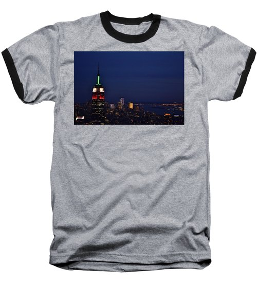 Empire State Building3 Baseball T-Shirt by Zawhaus Photography