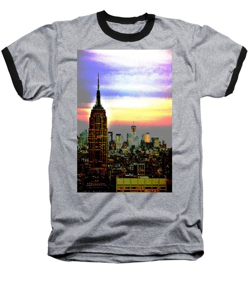 Empire State Building4 Baseball T-Shirt by Zawhaus Photography