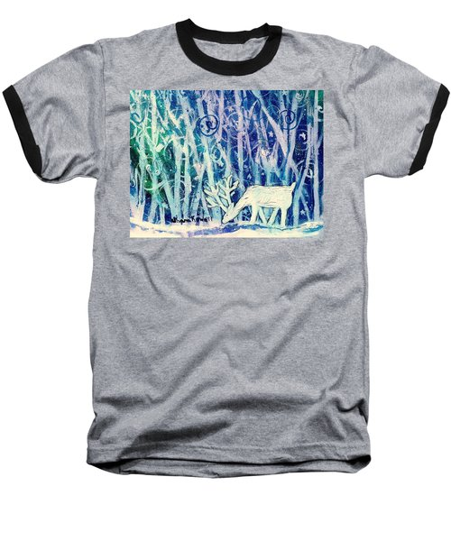 Enchanted Winter Forest Baseball T-Shirt
